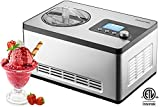 Gourmia GSI400 Automatic Ice Cream Maker Stainless Steel 2.2...