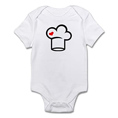 0742e41cd85b6 Amazon.com  CafePress Chef Hat Cook Cute Infant Bodysuit Baby Romper   Clothing