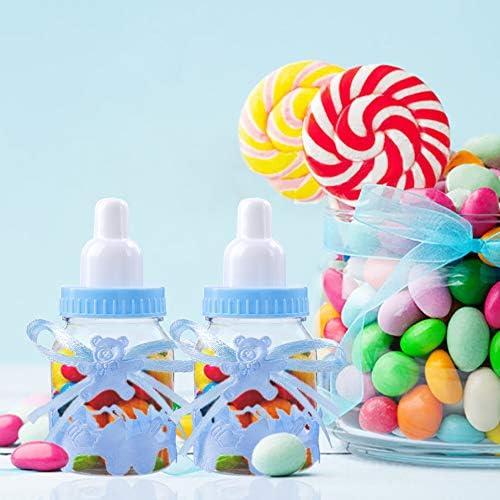 24 X à remplir bouteille pour Baby Shower Party Favors Recuerdos Bleu Bouteilles