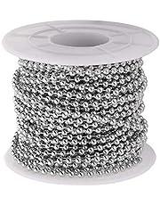 Supvox Metalen parelketting roestvrij staal kogelketting voor doe-het-zelf handwerk decoratie 2,4 mm diameter 1 rol 10 meter lengte