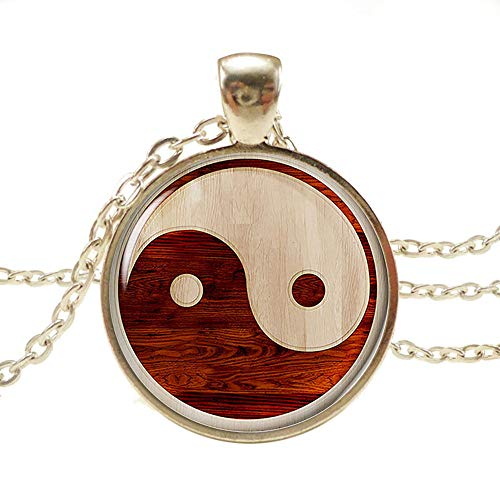 Pusheng Retro Yin Yang Choker Pendant Necklace for Mother's Day,Birthday Day (Yin and Yang 8)