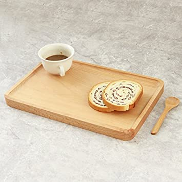 muzuo rústico madera rectangular bandeja para servir Vajilla, decorativa bandejas, platos para té café