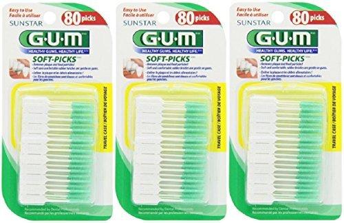 GUM Soft-Picks - 80 CT (Pack of 3)