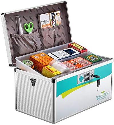 JYYX Portátil/Emergencia / / Gabinete Médico/Paquete de Primeros Auxilios Kit de Coche/Medicina hogar Supervivencia de Almacenamiento Caja de Caja de la Medicina/contenedor,B2: Amazon.es: Hogar
