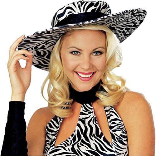 Coslove Wild Thang Zebra Print Hat for Pimp or Ho (Wild Zebra Adult Womens Costume)