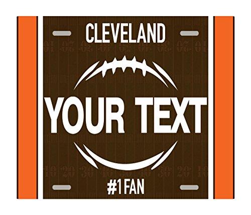 BleuReign(TM) Personalized Custom Name Football Cleveland License Plate Square Refrigerator Fridge Magnet