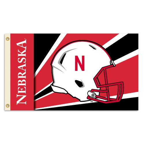 BSI NCAA Nebraska Cornhuskers Helmet Design Flag with Gromme