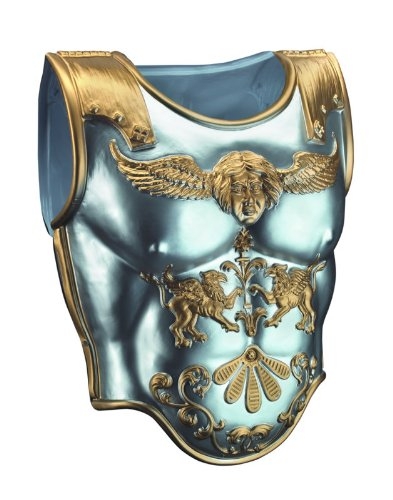 Disguise Men's Roman Armor Costume Accessory, Silver/Gold, (Roman Costumes For Men)