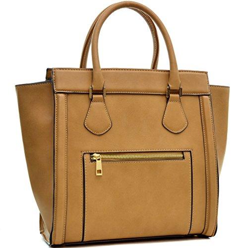 dasein-new-designer-vegan-leather-front-pocket-top-handble-satchel-handbag-with-crossbody-strap