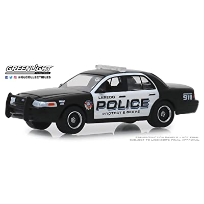 GL Greenlight 1:64 Hot Pursuit Series 32 2010 Ford Crown Vic Police Inter Laredo TX: Toys & Games