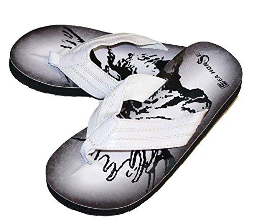 Dona Michi Mens Mode Flip Flops Läderfoder Inne Vit