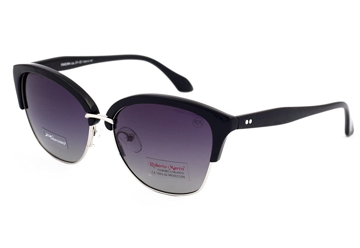 158653aa587 Genuine Roberto Marco Polarized Sunglasses for Women Drivers Black Plastic  frame