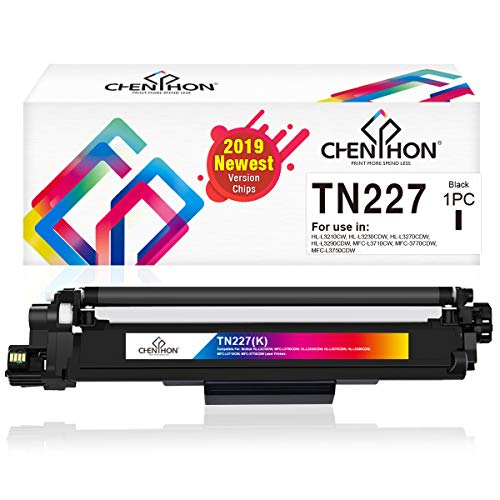ChenPhon Compatible Toner Cartridge Replacement for Brother TN227 TN-227 (2019 Newest Version Chip) Black TN223 TN-223 for HL-L3210CW HP-L3230CDW HL-L3270CDW HL-L3290CDW MFC-3710CW MFC-3770CDW Printer