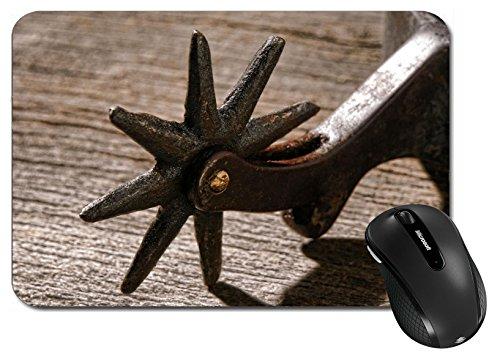 MSD Large Mouse Pad XL Extended Non-Slip Rubber Extra Large Desk Mat IMAGE 25307191 American West rodeo cowboy antique horse riding spur style star shape sp (Spur Antique)