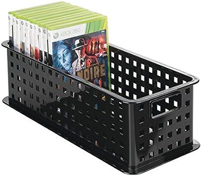 mDesign Caja de almacenaje para DVDs o CDs – Porta CD y DVD ...
