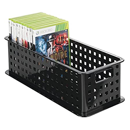 MDesign CD Storage Box   Black Plastic CD Holder   Storage System For CDs,  DVDs