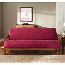 Sure Fit Soft Suede/Sherpa - Futon Slipcover  - Burgundy (SF36203)
