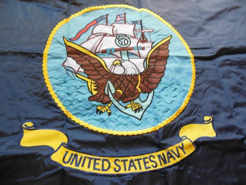 USA NAVY Double Sided Nylon Heavy Duty Embroidered 3ft X 5ft Military 3x5 Flag