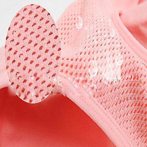 Hsnnyqt Sujetador Deportivo Mujer Movimiento Ocio Trotar Transpirable Interior Del Cuerpo Del Sujetador Escultura Amplia Pink