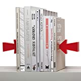 Red Arrow Metal Bookends Magnetic Bookends Bookshelf Office Stationery Desktop Bookshelf,Red
