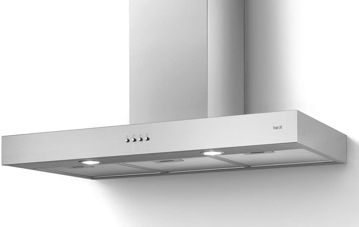 Best Campana extractora de pared Beta H10 Lux 90 de acero inoxidable de 90 cm: Amazon.es: Grandes electrodomésticos