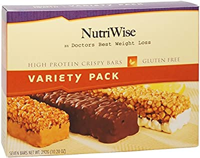 NutriWise - Variety Pack Crispy Diet Protein Bars (7 bars)