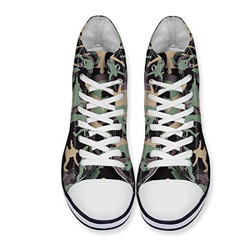 Per Te Disegni Mens Alte Scarpe Di Tela Da Camuffamento Classiche Scarpe Da Ginnastica Casual Alte Scarpe Da Ginnastica Alte Camo-5