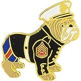 US Marine Corps Bulldog w/ Cap Lapel / Hat Pin USMC