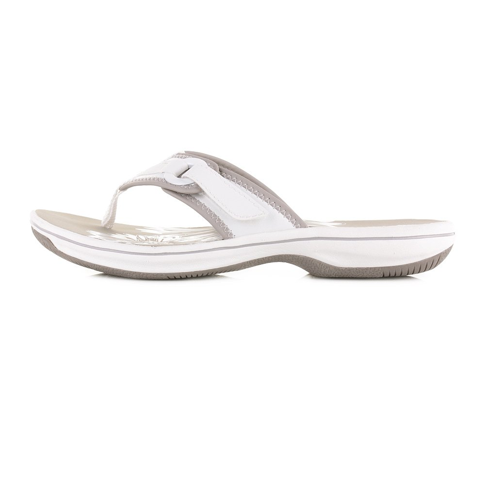 51bef1967d50 Womens Clarks Brinkley Mila White Flat Toe Post Comfort Sandals SIZE 3   Amazon.co.uk  Shoes   Bags