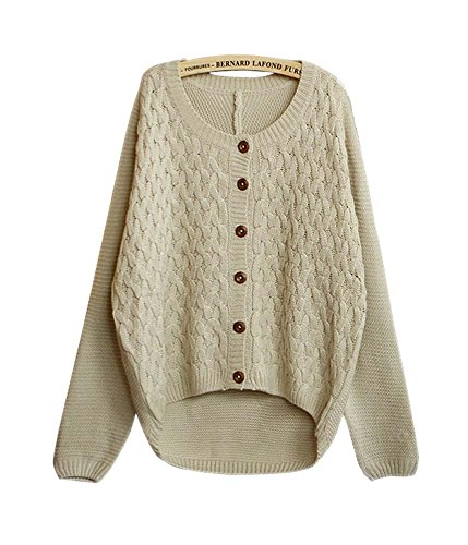 ARJOSA Womens Leather Cardigan Sweater