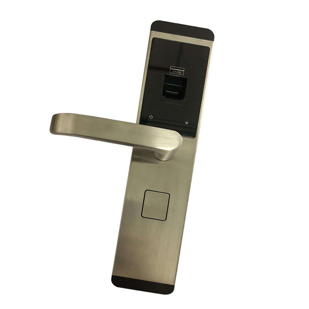 SunniMix 高品質 キーレスアラーム内蔵 スマート 電子 キーレス デジタル ドアロック 指紋認証 RFIDカード 盗難防止 全4色選べる 銀 B07CBW39V8  銀