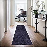 Superior Hand Tufted Thick, Plush, Cozy Quality Shag Textured Area Rugs, Navy Blue - 2 6 x 8 Runner