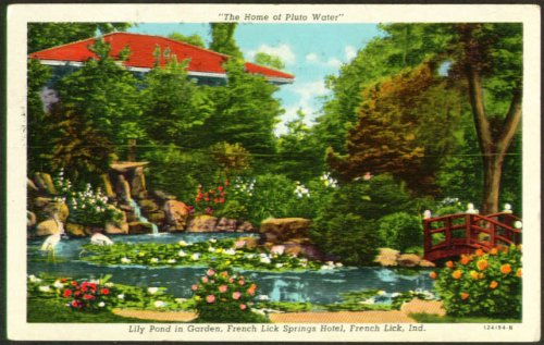 Pluto Water Source French Lick Springs IN postcard 1956
