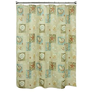 51KwWlyEe8L._SS300_ 200+ Beach Shower Curtains and Nautical Shower Curtains