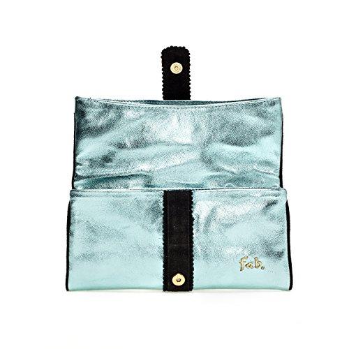 Fab by Fabienne New york clutch - Bolso glossy ocean blue metallic