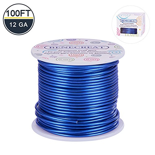 BENECREAT 12 17 18 Guage Aluminum Wire Anodized Jewelry Craft Making Beading Floral Colored Aluminum Craft Wire