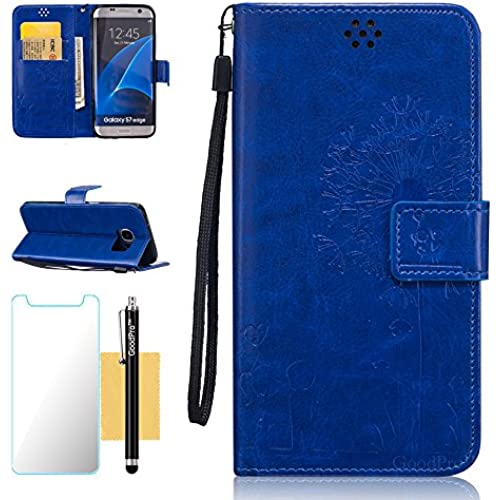 GoodPro Galaxy S7 Edge Case,S7 Edge Case,PU Leather Lover Style Wallet Flip Case with Stand Card Slots and Wriststrap Sales