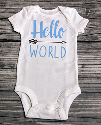 Hello World Bodysuit - Baby Bodysuit - Newborn Bodysuit - Hello World - Coming Home Outfit