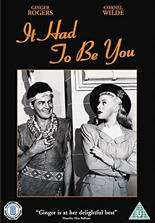 It Had To Be You [DVD] [2006] by Ginger Rogers: Amazon.es ...