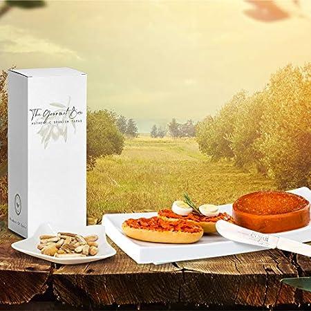 GOURMET BOX Caja Gourmet Tapas con Paleta, Caña de lomo, Bellotitas de Salchichón y Chorizo, 2 Sobrasadas (Ibérica y Viña), Picos Artesanos y Aceite de Oliva virgen extra.