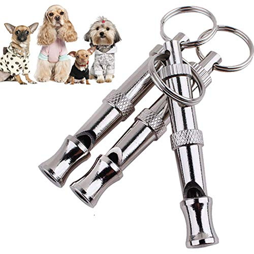 GETIEN Dog Whistle to Stop Barking Dog Whistles with Adjustable Frequencies Dog Training Tool 3PCS with 3 Free Lanyard Strap