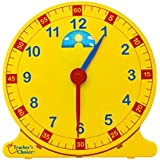 """Learn How to Tell Time Teaching Clock – Large 12"""" Classroom Demonstration Night and Day Learning Clock"""
