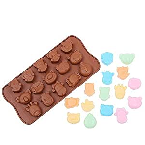 Animals & Love Ice Cube Chocolate Soap Tray Silicone Baking mold (Ships From USA)