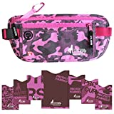 Travel Money Belt for Woman and stylish RFID Blocking Sleeves Set for Daily Use