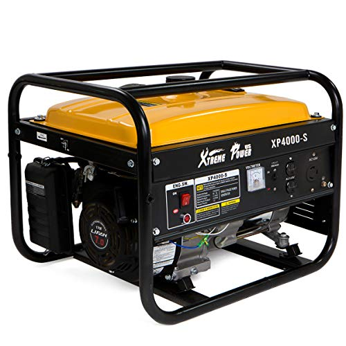 XtremepowerUS 3500 Running Watts / 4000 Starting Watts Gas Powered Portable Generator 7HP OHV Engine Camp Tailgate, Yellow