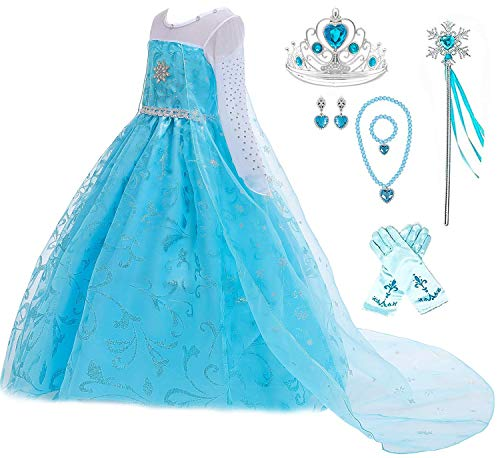 Disney Queen Elsa Dress - Romy's Collection Ice Queen Glitter Princess