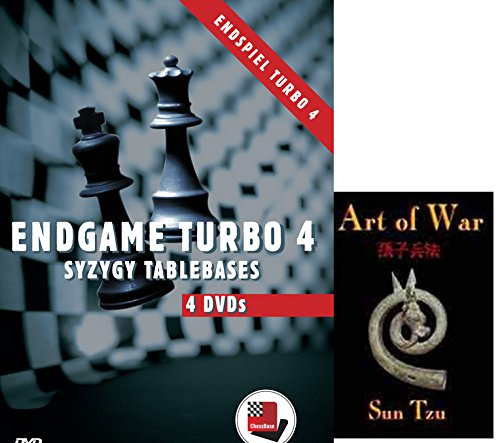 Endgame Turbo 4 - Syzygy Tablebases on 4 DVDs Chess Soiftware bundled with Art of War
