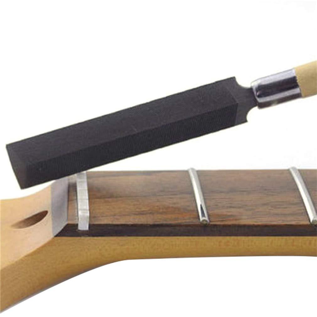 L/_shop Guitare /électrique Luthier Tool Outil de r/éparation de limage de Fente de Selle de fichier de Losange