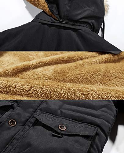 kiden コート メンズ アウター ダウンジャケット コート中綿 防寒 防風 防撥水 厚手 裏起毛 アウトドア ファー付き 冬服 大きいサイズ