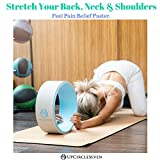 UpCircleSeven Yoga Wheel - [Pro Series] Strongest & Most Comfortable Dharma Yoga Prop Wheel, Perfect Accessory for Stretching and Improving Backbends, 12 x 5 Inch Basic